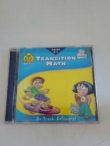 School Zone Transition Math Grades K-1 CD Win / Mac educational software used