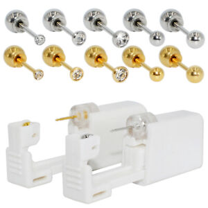 2PCS Disposable Sterile Ear Piercing Unit Ear Piercer Gun Cartilage Earrings kit