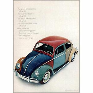 1964 Volkswagen: The Green Fender Came Off SLD Vintage Print Ad