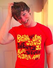 27 CLUB / MOE'S / Cobain, Hendrix, Joplin Red 100% Cotton Size L T-Shirt