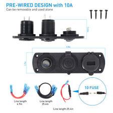 12V Car Boat Motorcycle Dual USB Charger Cigarette Lighter Plug Socket Voltmeter