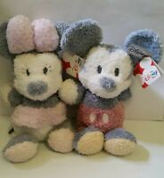 Disney store Mickey and Minnie Mouse Cuddle Tot Exclusive 14.5 Plush stuffed toy