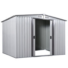 8' x 8' Outdoor Utility Tool Storage Shed Backyard Garden Garage Kit Building