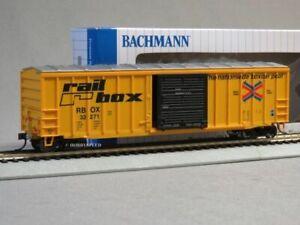 BACHMANN 50' OUTSIDE BRACED BOXCAR FRED HO SCALE CAR led light ETD BAC14901 NEW