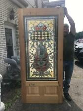Beautiful Hand Made Cut And Jeweled Stained Glass Estate Door - Jb23