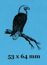 American Bald Eagle Rubber Stamp - Backed with Cling Foam