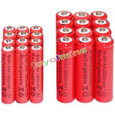 12 AA 3000mAh + 12 AAA 1800mAh battery Bulk Nickel Hydride Rechargeable 1.2V Red