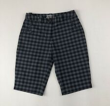 Nike Golf Tour Performance Dri Fit Black/Gray Checked Bermuda-Style Shorts Sz 4