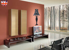 Beautiful Lamp wall stickers with silver glitter and rhinestones-S011