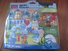 Mega Bloks #10767 The Smurfs Celebration 37 pcs Grumpy Clown ++ 2013 Peyo NEW