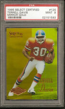 1995 SELECT CERTIFIED TERRELL DAVIS MIRROR GOLD RC #126 PSA MINT 9 BRONCOS