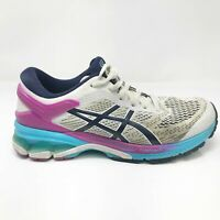Asics Womens Gel Kayano 26 1012A457 White Purple Running Shoes Lace Up Size 8.5