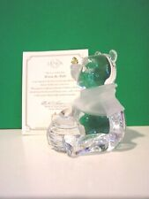LENOX CRYSTAL WINNIE the POOH with BEE sculpture Disney NEW in BOX with COA