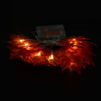 3M 30-LEDs Ahornblätter Lichterkette Weihnachtsbeleuchtung Dekor Herbst Girlande