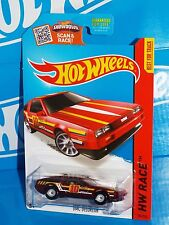 Hot Wheels 2015 Super Treasure Hunt Track Aces DMC DELOREAN Dark Red