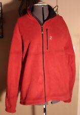 Izod PerformX Ratio Mens Red Fleece Zipper Jacket size Medium