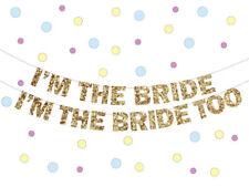 Lesbian Wedding Banner, I'm the Bride Banner, glitter banner, Gay marriage
