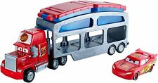 Disney Cars Mack Dip & Dunk Truck Trailer With Lightning McQeen Car NEW CKD34
