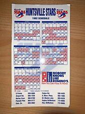 1992 HUNTSVILLE STARS MINOR LEAGUE BASEBALL SCHEDULE MAGNET DOMINO'S PIZZA