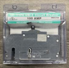 NEW CONNECTICUT ELECTRIC UBIZ-2100 UBIZ2100 100 AMP 2 POLE CIRCUIT BREAKER