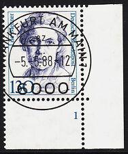 32) Berlin 130 Pf Frauen 812 FN 1 Formnummer Ecke 4 EST FFM mit Gummi RAR!