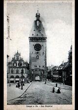 SPEYER (ALLEMAGNE) CONDITOREI CAFE & TOUR de l'HORLOGE / ALTPORTEL animé en 1919