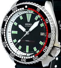 Vintage mens SEIKO diver 7002 mod w/GRAY Plongeur hand set & WHITE Chapter Ring!