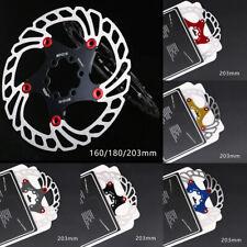 160,180,203mm MTB Bike Disc Brake Rotor Hydraulic Disc Brakes Bicycle Brake Pad