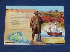 Captain James Cook R.N., F.R.S. 1728-1779 Whitby - Old Picture Postcard