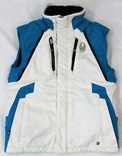 Spyder Thinsulate Boy's Size 14 Ski Snowboard Jacket Vest - White With Aqua Trim