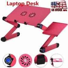 Foldable Laptop Table Tray Desk W/Cooling Fan Tablet Desk Stand Bed Sofa Couch L