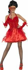 Devilish Masquerade Fancy Dress Costume Ladies Halloween Sexy Devil Red Small