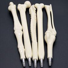 Black Refill Ball Point Pen Bone Shape Nurse Doctor Student Stationery Gift