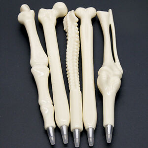 New Design Ball Point Pen Lifelike Bone Nurse Doctor Student Stationery Gift