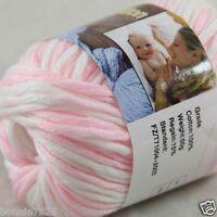 Sale New 1 Skein x 50g Soft 100% Cotton Chunky Super Bulky Hand Knitting Yarn 45