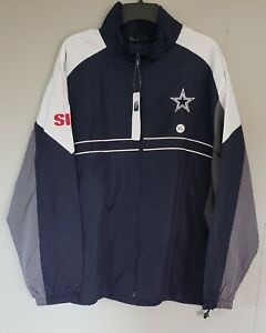 Dunbrooke Men's NFL Team Dallas Cowboys Full-Zip Windbreaker Jacket Navy XL