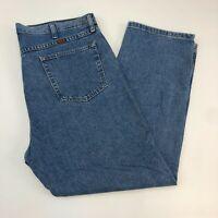 Rustler Denim Jeans Mens 40X30 Blue Straight Leg Regular Medium Wash Zip Closure