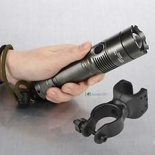10000LM CREE XM-L T6 LED Rechargeable Flashlight Torch Light + Bike Mount ClipBS