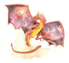 New H.C. L.E. Dragons Realm Collection - Fires Fury Red Dragon Statue - Nwot