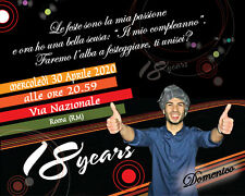 Biglietti Inviti 18 anni Compleanno Personalizzati Party