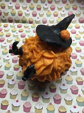 Jumbo 9oz Halloween Themed Witch Cupcake Candle Soy Wax Pumpkin Spice Autumn