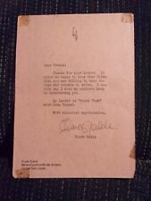 1941 CLARK GABLE (d. 60) AUTOGRAPHED SIGNED FAN LETTER