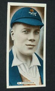 ARDATH CIGARETTES CARD 1935 CRICKET CELEBRITIES #26 G. DUCKWORTH LANCASHIRE