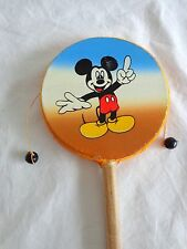 "Pellet Hand Drum MICKEY MOUSE Disney Wood 9.5"" Painted Leather"