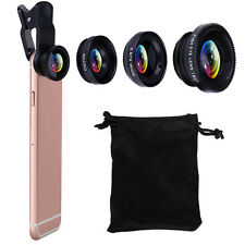 VODOOL Clip 3 in1 180° Fish-Eye Lens+Wide Angle Len+Macro Lens For iphone 7 Plus