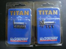 GRAUVELL TITAN Nº 8 ( 20 KG / 44 LBS ) ROLLING BARREL SWIVELS / EMERILLON