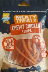 Good Boy Meaty Treaty Chewy Chicken Strips Treats Chews 80g