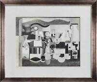 """Le CORBUSIER Lithograph SIGNED """"Still Life with Many Objects"""" 1923 w/Frame"""