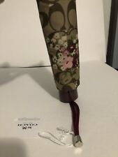 COACH SIGNATURE Women's MINI UMBRELLA F31705 Floral Automatic Brown  Merlot New