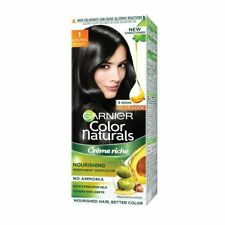 2 X Garnier Color 1 Natural Black Crème Riche No Ammonia Hair Color 35 ml + 30 g